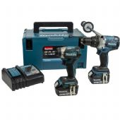Makita DLX2176TJ LXT 18V Brushless Li-Ion 2 Piece Kit (2 x 5 Ah Batteries)
